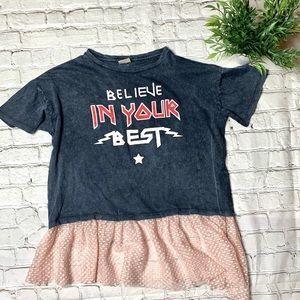 Zara Girls T-shirt with Tule Size 13/14